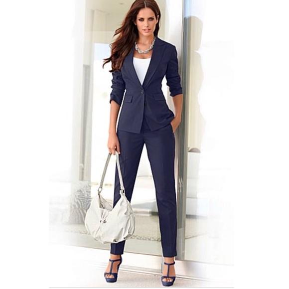 Womens Navy Suit. M 5ac42f9c85e605cda6909ab1 7159531529